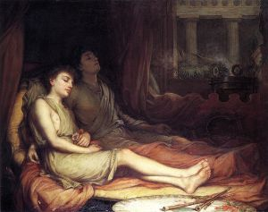 John William Waterhouse  (1849–1917), Le Sommeil et son demi-frère la Mort, 1874