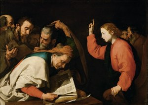 Cercle de José de Ribera, Jésus parmi les docteurs de la loi, 1630, Kunsthistorisches Museum Wien