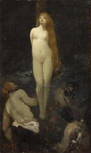 Fedor Encke (1851-1926), Bûcher de sorcière