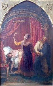 Auguste Couder (1789–1873), Frédégonde et Chilpéric (et le corps de Galswinthe), vers 1826, Musée des Beaux-Arts d'Orléans (Collection Antoine Béal)