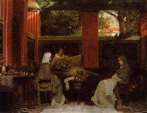 Lawrence Alma-Tadema (1836–1912), Venance Fortunat lisant ses poèmes à Radegonde, 1862, Musée de Dordrechts